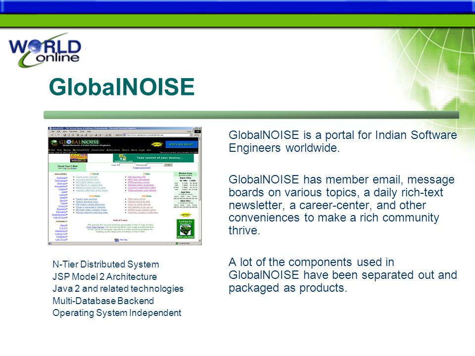 GlobalNOISE GlobalNOISE is a portal for Indian Software Engineers worldwide.