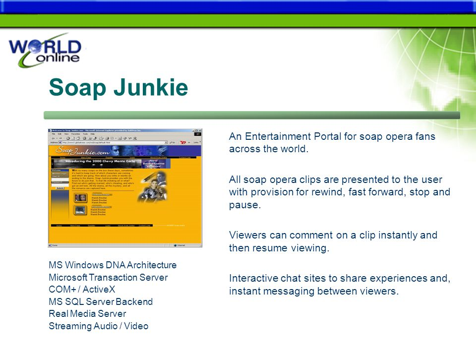 Soap Junkie An Entertainment Portal for soap opera fans across the world.