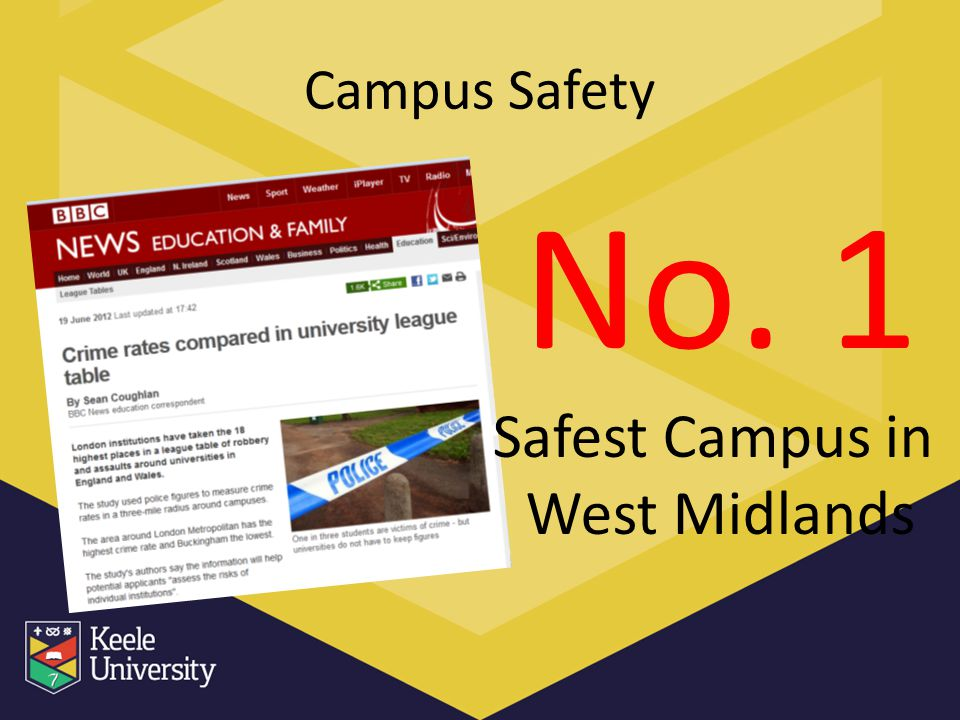 Campus Safety No. 1 Safest Campus in West Midlands