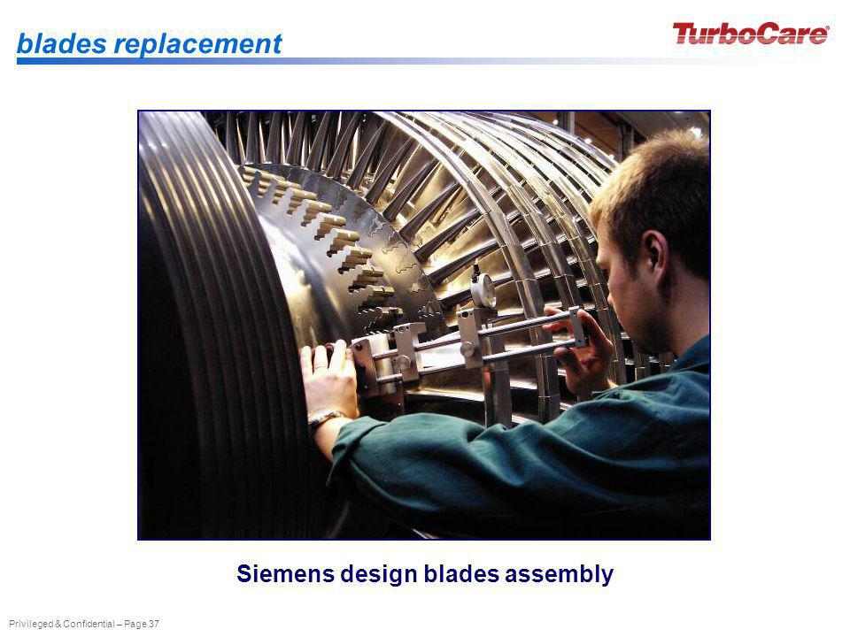 Privileged & Confidential – Page 37 Siemens design blades assembly blades replacement