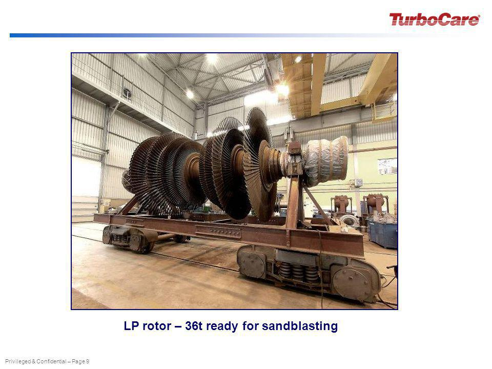 Privileged & Confidential – Page 9 LP rotor – 36t ready for sandblasting