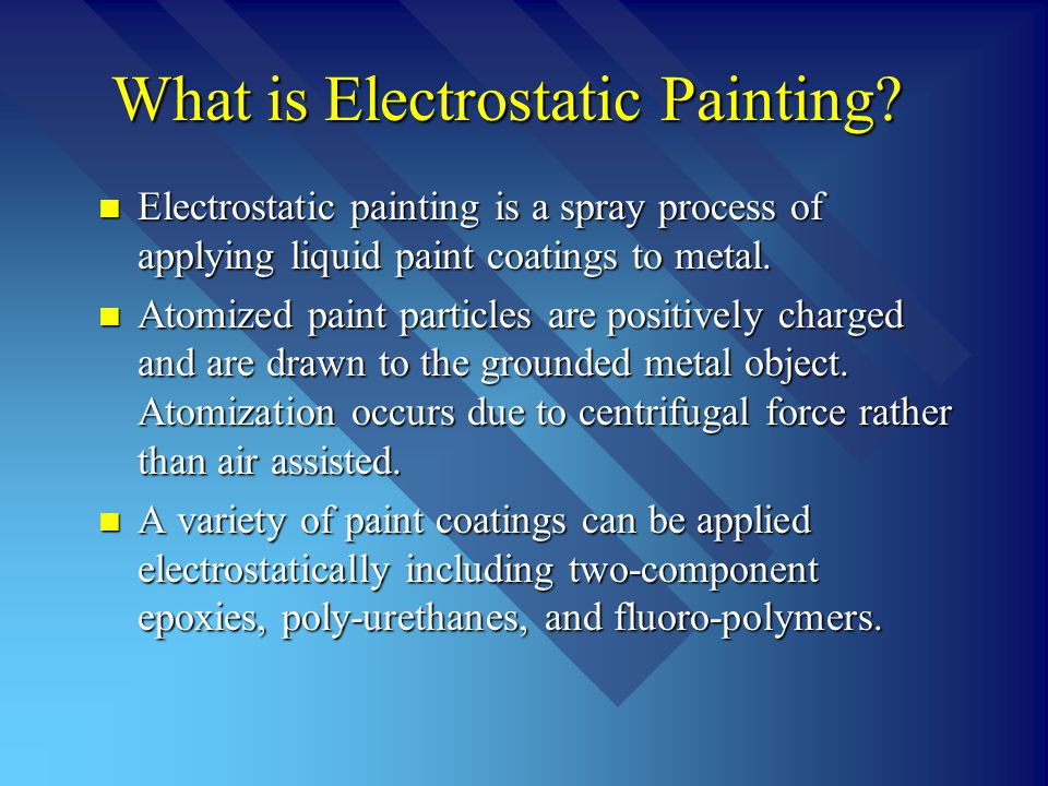 What is Electrostatic Painting.