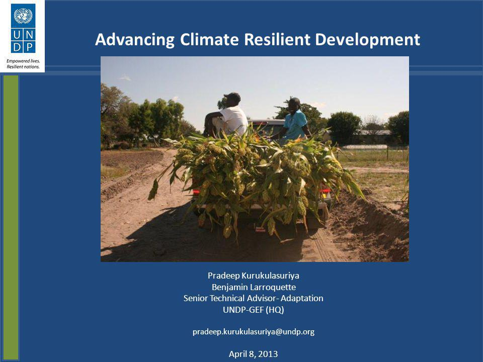 Goal: Assist Governments to transition to green, inclusive, low emission climate resilient development Integrated Planning and Strategies Ecosystems and Biodiversity Energy, Infrastructure and Transport Oceans and Water Community Resilience Governance Poverty Reduction Equity Social inclusion Economic Growth Natural Resource Management