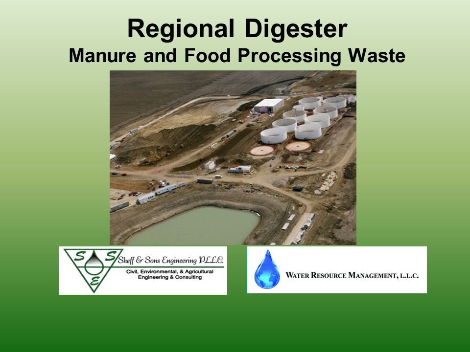 The Regional Digester Process The Pond