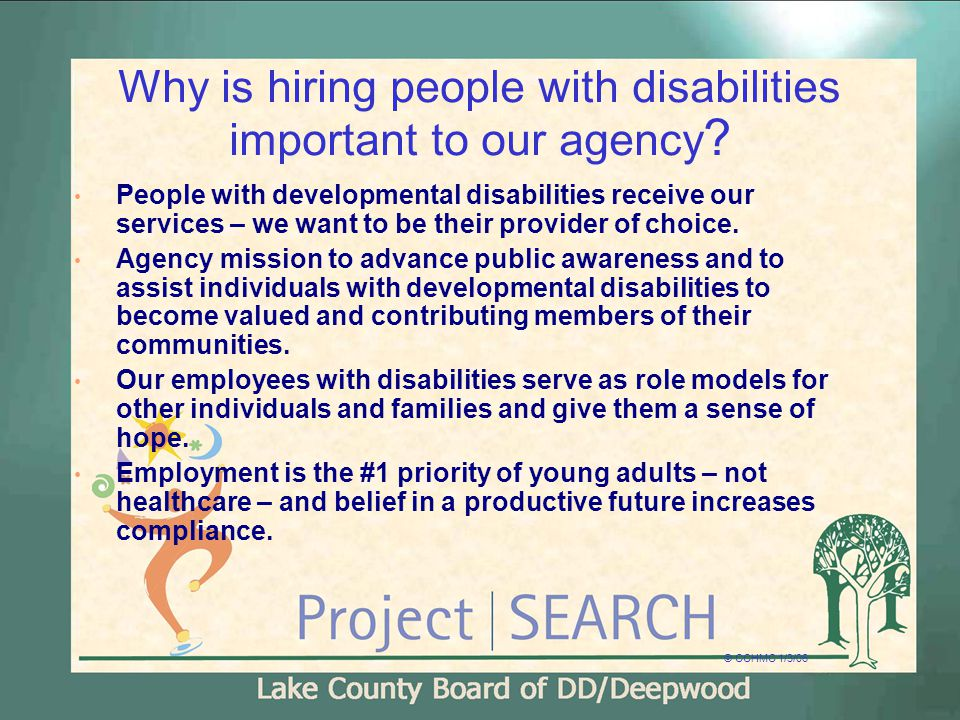 Why is hiring people with disabilities important to our agency .