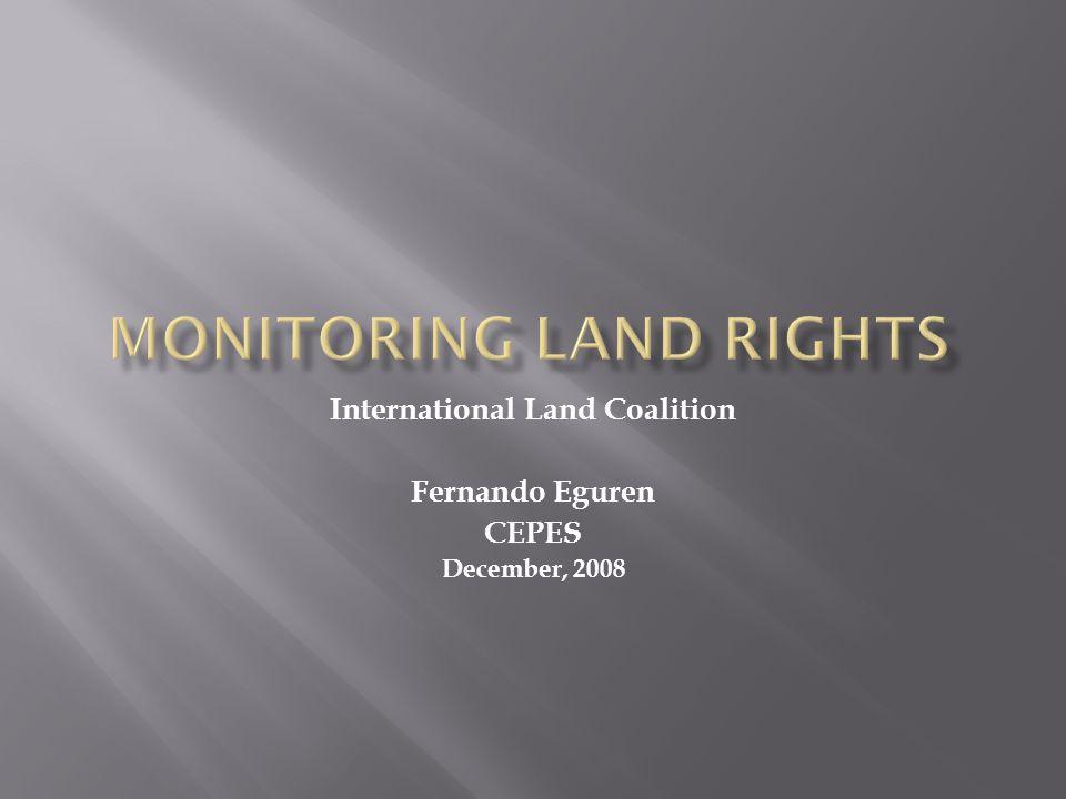 International Land Coalition Fernando Eguren CEPES December, 2008
