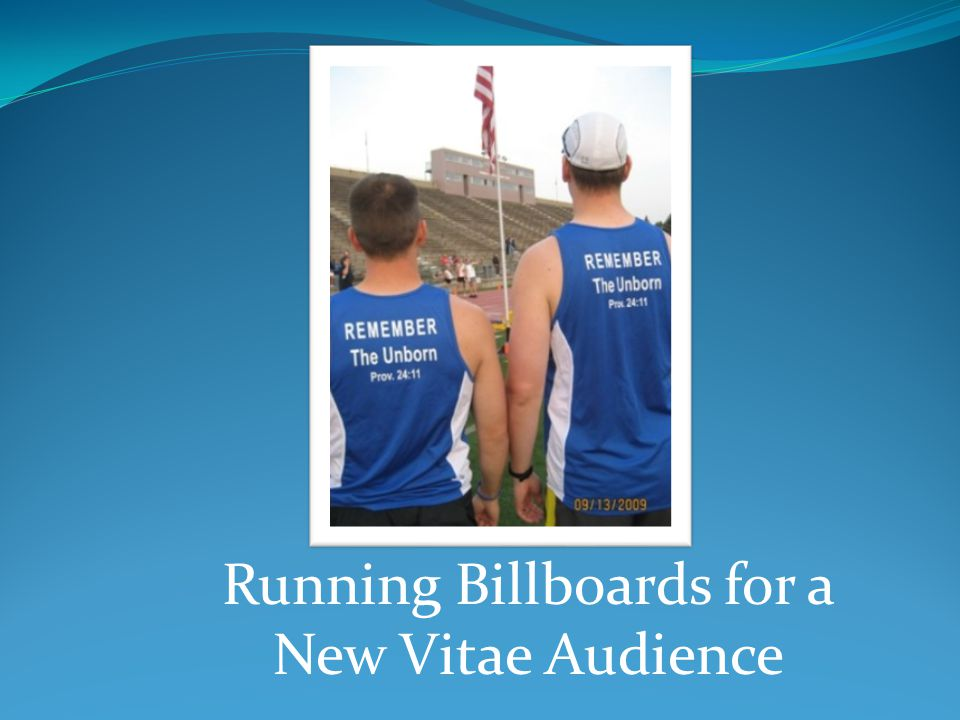 Running Billboards for a New Vitae Audience