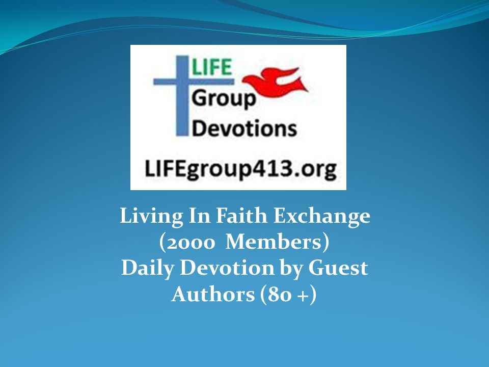 LIFE Group Devotions And National LIFE Runners Web Site