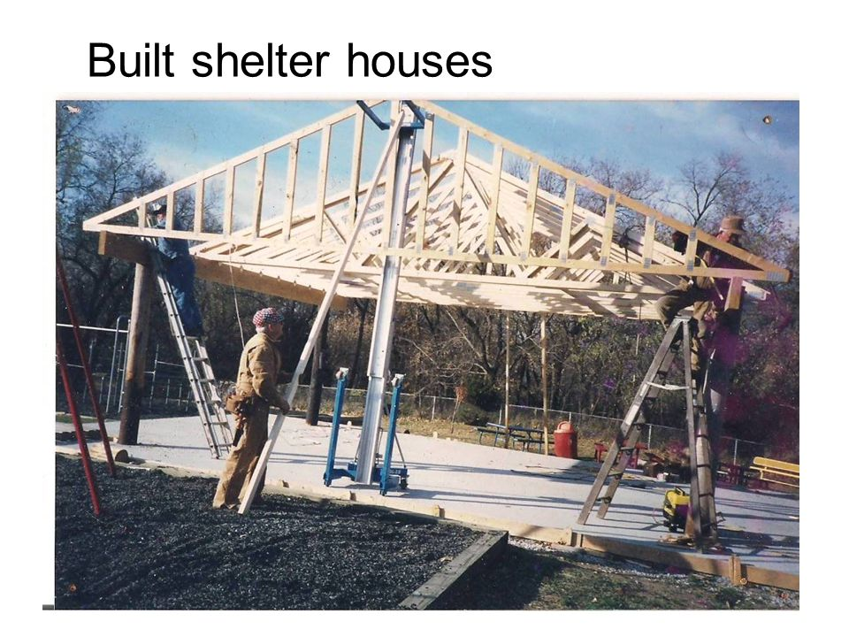Built shelter houses