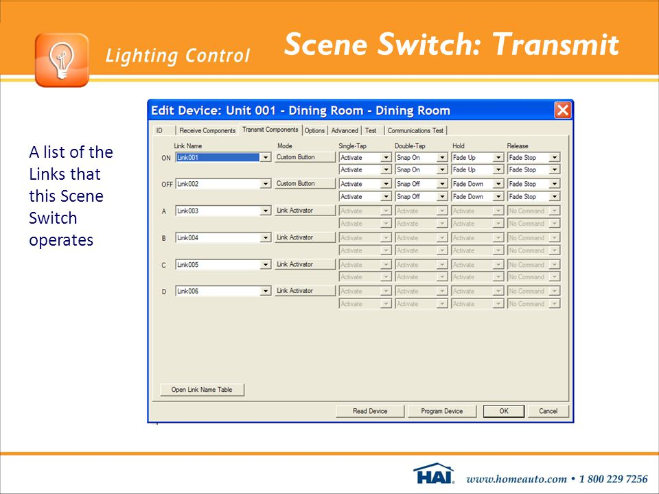 Scene Switch: Transmit A list of the Links that this Scene Switch operates