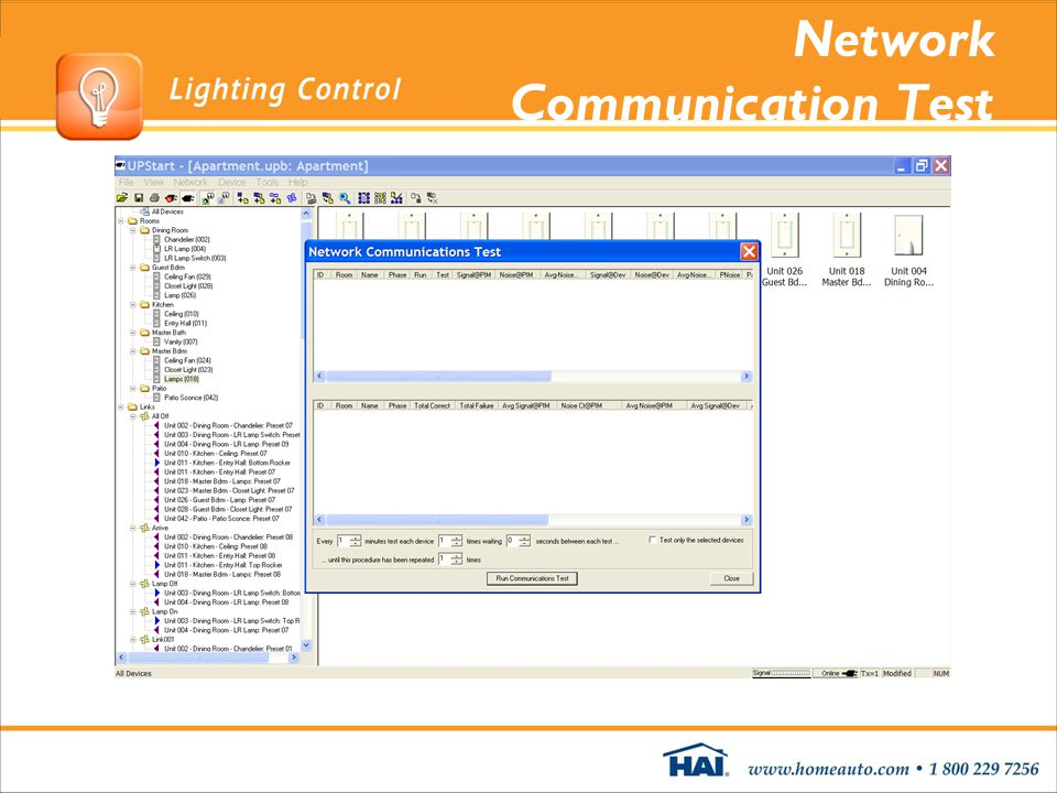 Network Communication Test