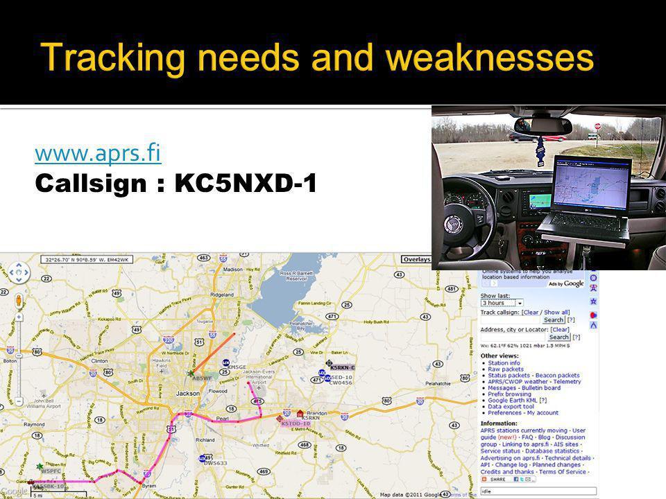 www.aprs.fi Callsign : KC5NXD-1