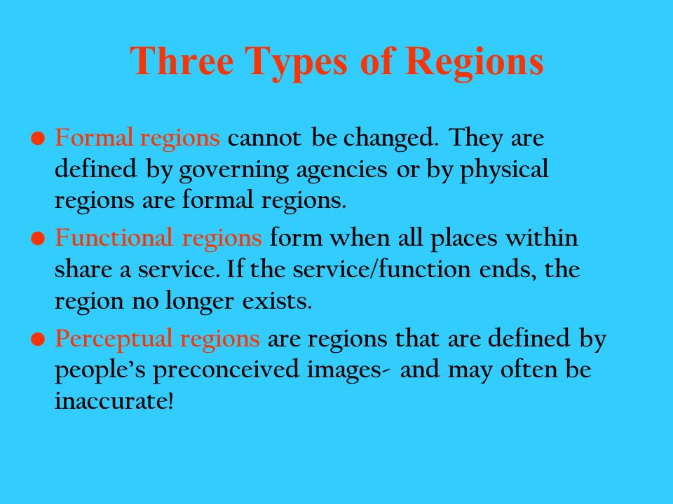 Region A basic unit of geographic study is the region, an area on the earths surface that is defined by certain unifying characteristics. The unifying