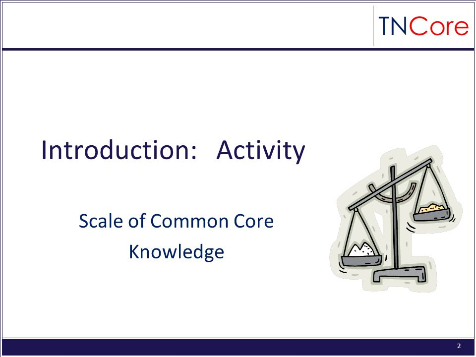 2 Introduction: Activity Scale of Common Core Knowledge