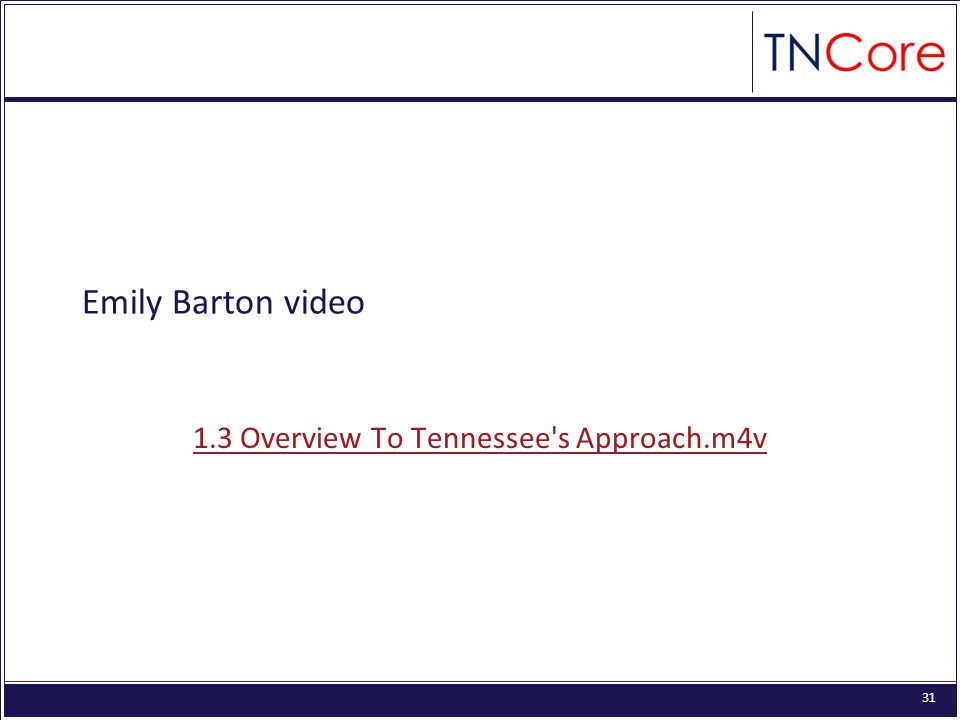 31 Emily Barton video 1.3 Overview To Tennessee s Approach.m4v