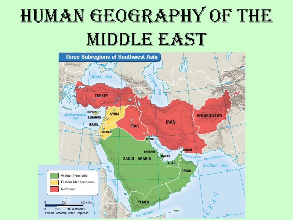 Human Geography of the Middle East