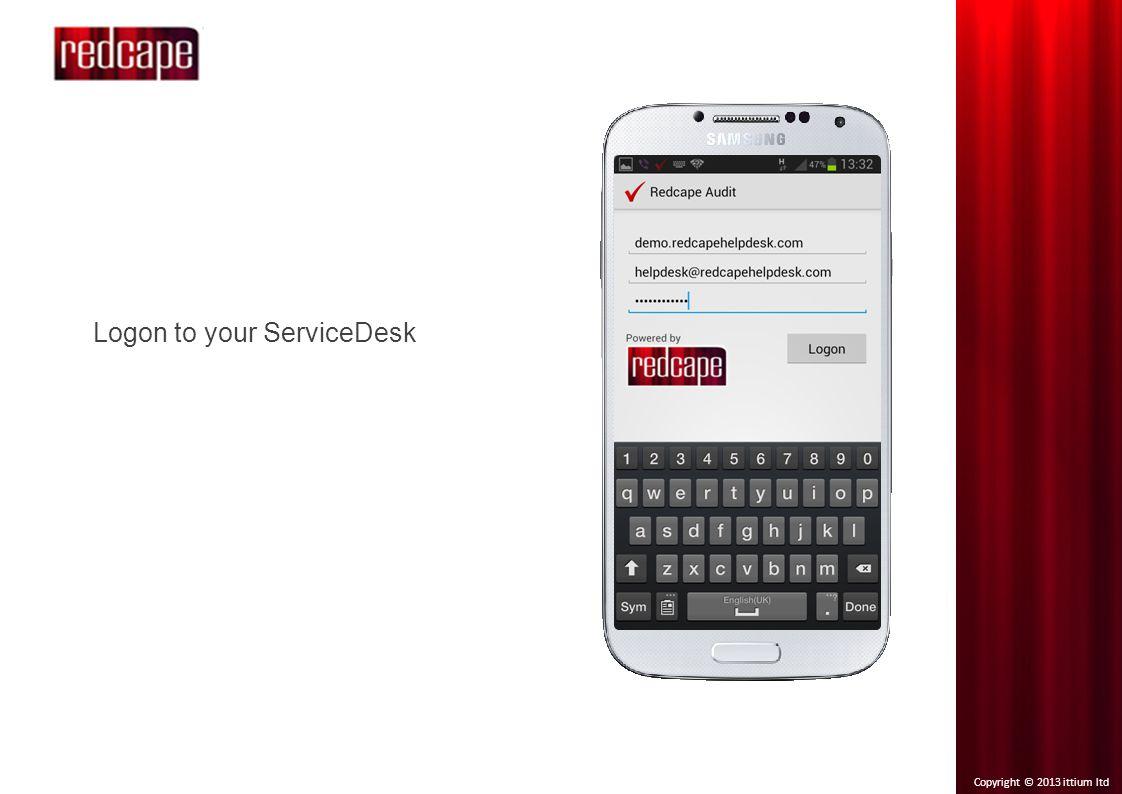 Copyright © 2013 ittium ltd Choose customer site and report