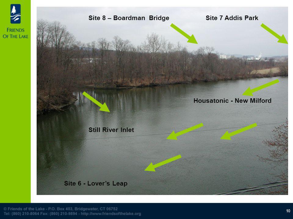 10 Site 7 Addis ParkSite 8 – Boardman Bridge Still River Inlet Housatonic - New Milford Site 6 - Lovers Leap