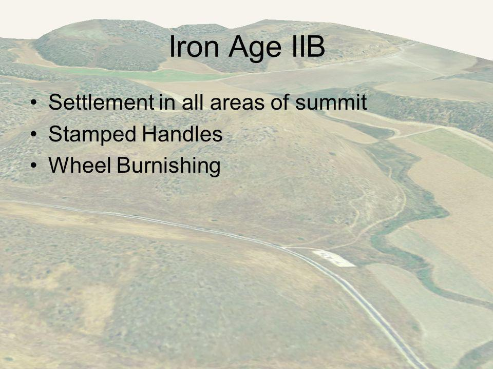 Iron Age IIB Settlement in all areas of summit Stamped Handles Wheel Burnishing