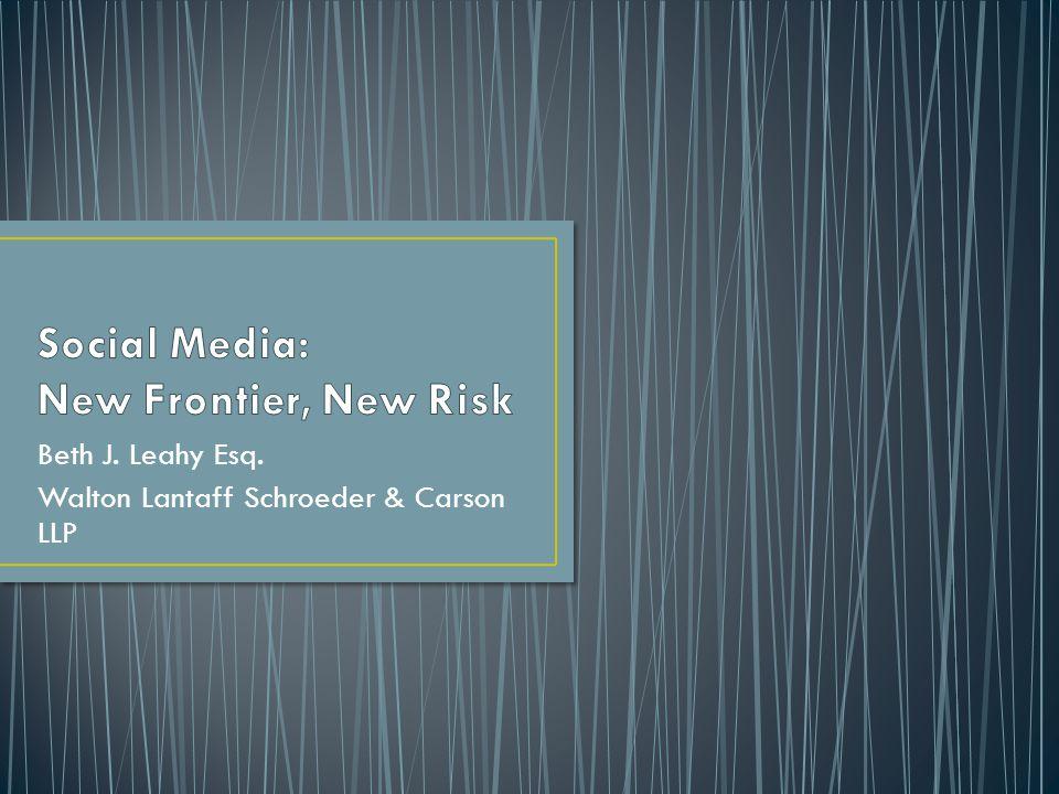 Beth J. Leahy Esq. Walton Lantaff Schroeder & Carson LLP