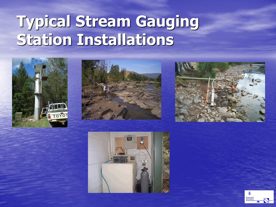 Typical Stream Gauging Station Installations