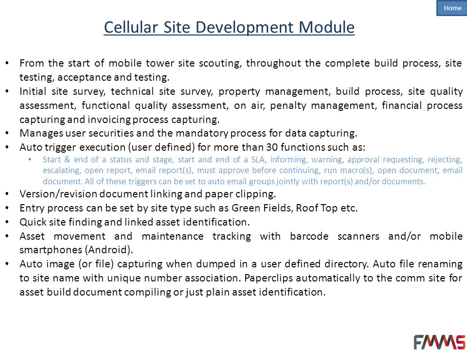 Home Mobile and Web Applications Asset movement capturing and management.