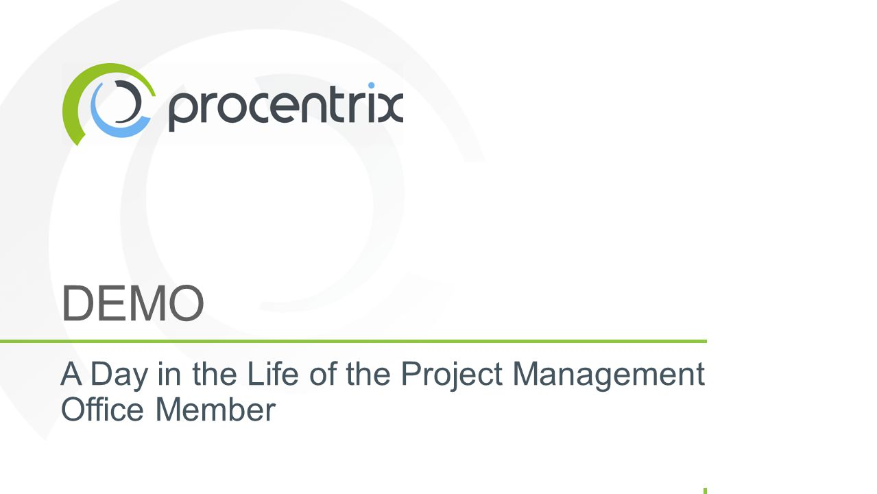 DEMO A Day in the Life of the Project Management Office Member