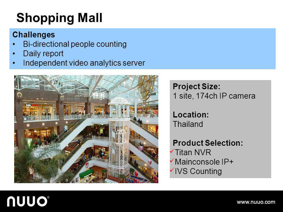 Supermarket Challenges Warn shop owner when transaction amount over 1,000Euro Filter suspicious transaction with video display Project Size: 10 stores
