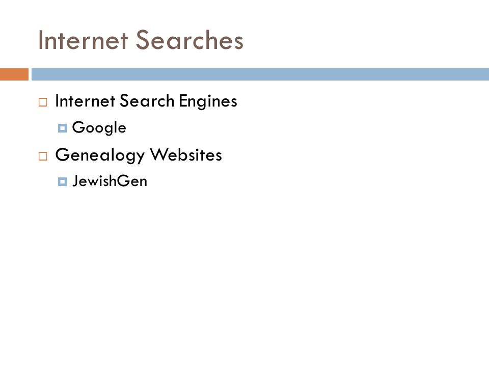Internet Searches Internet Search Engines Google Genealogy Websites JewishGen