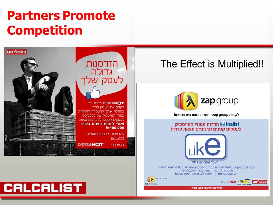 The Effect is Multiplied!! Partners Promote Competition