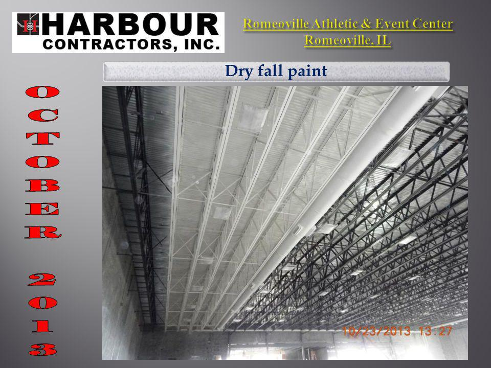 Dry fall paint