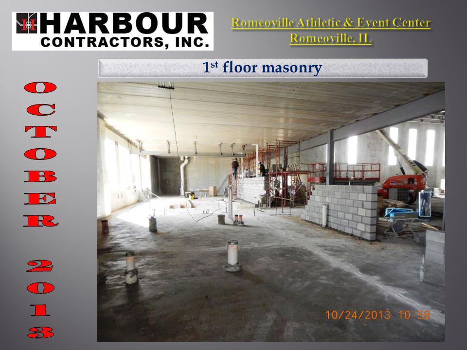 1 st floor masonry