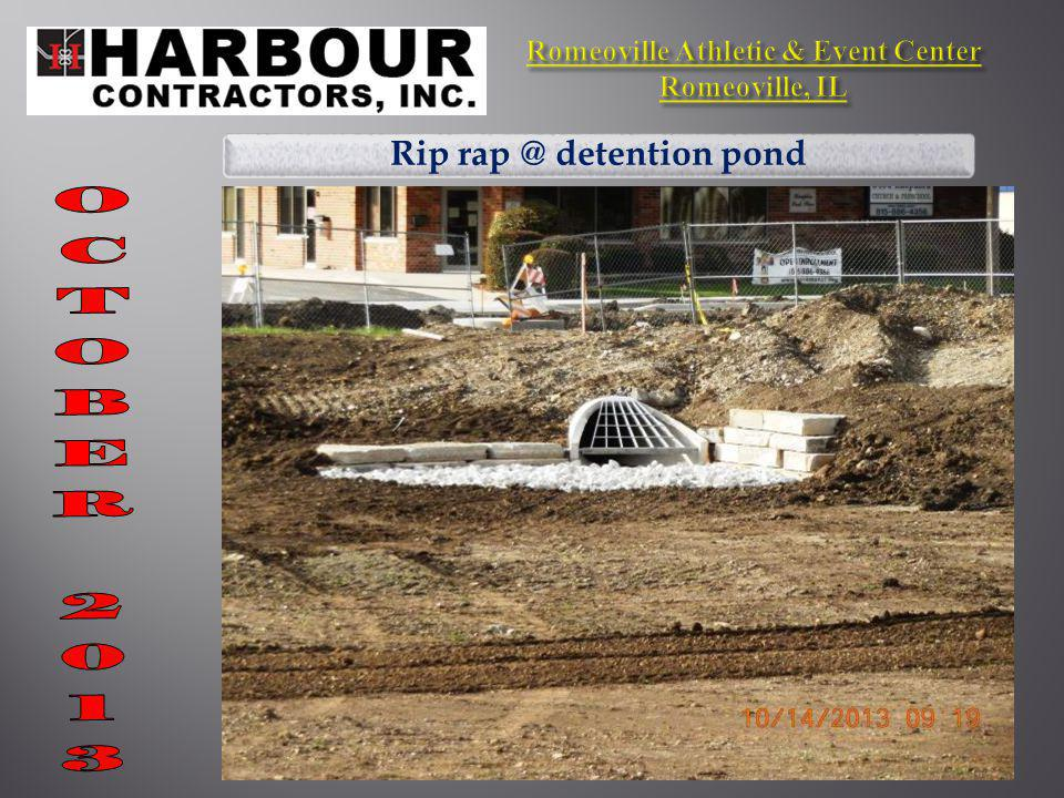 Rip rap @ detention pond