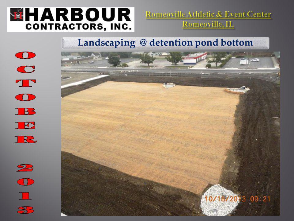 Landscaping @ detention pond bottom