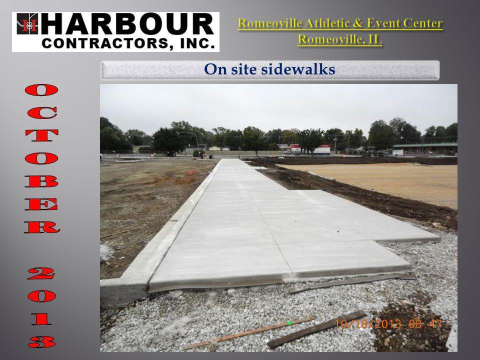 On site sidewalks