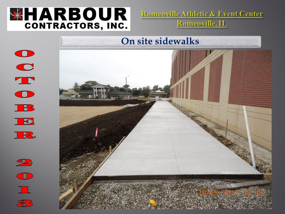 On site sidewalks