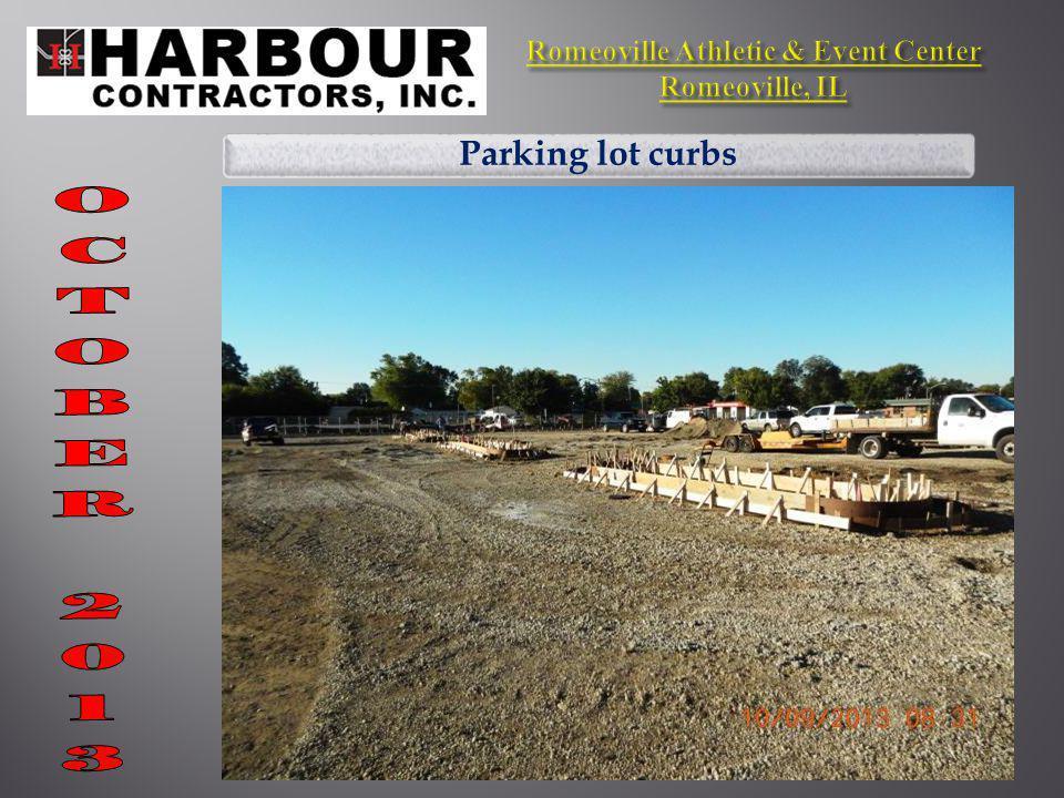 Parking lot curbs