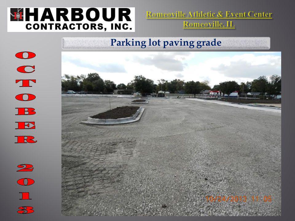 Parking lot paving grade