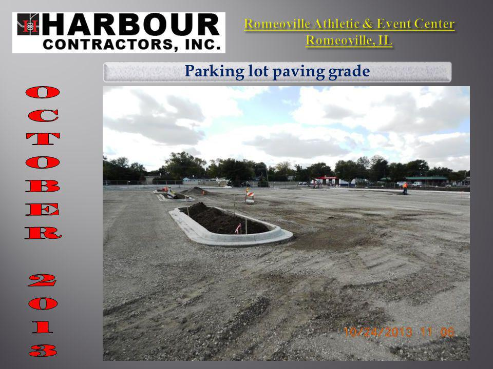Parking lot paving grade