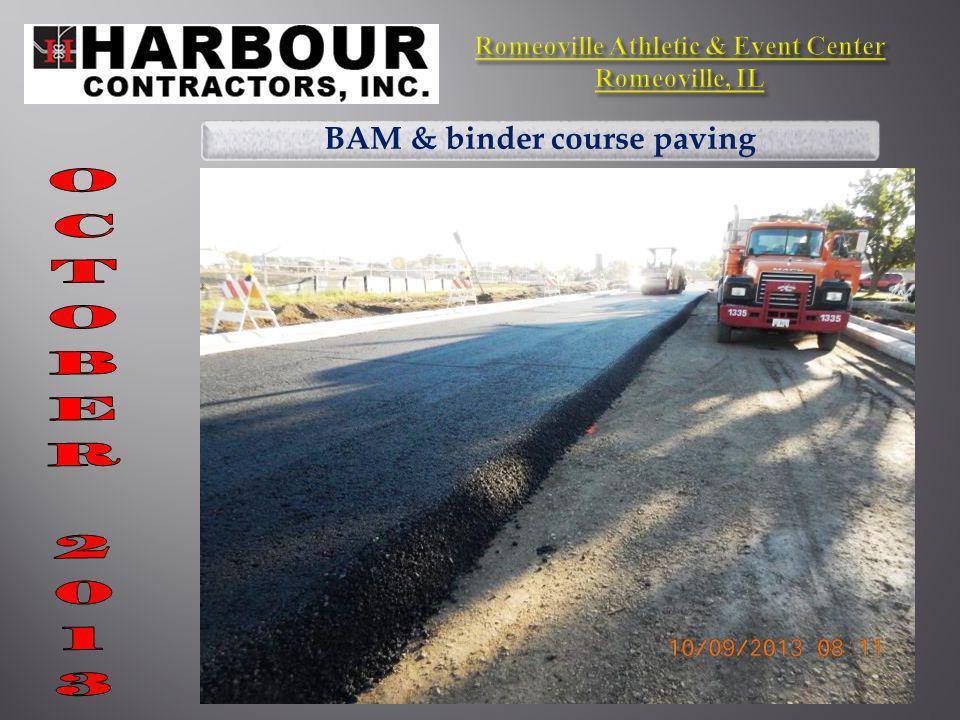 BAM & binder course paving