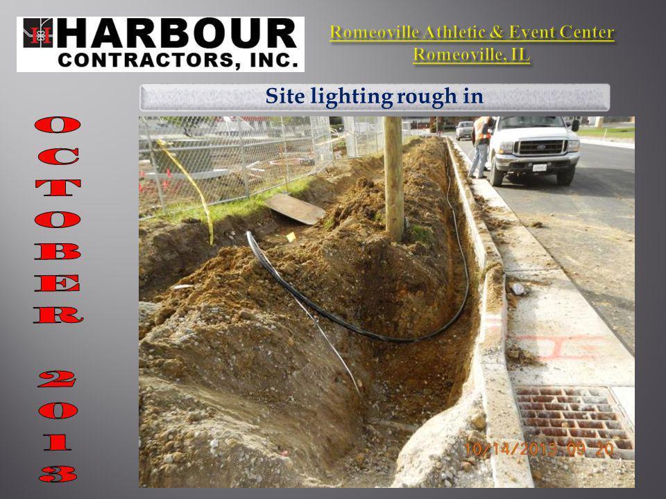 Site lighting rough in