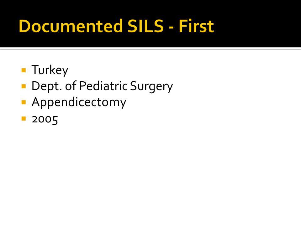 Turkey Dept. of Pediatric Surgery Appendicectomy 2005
