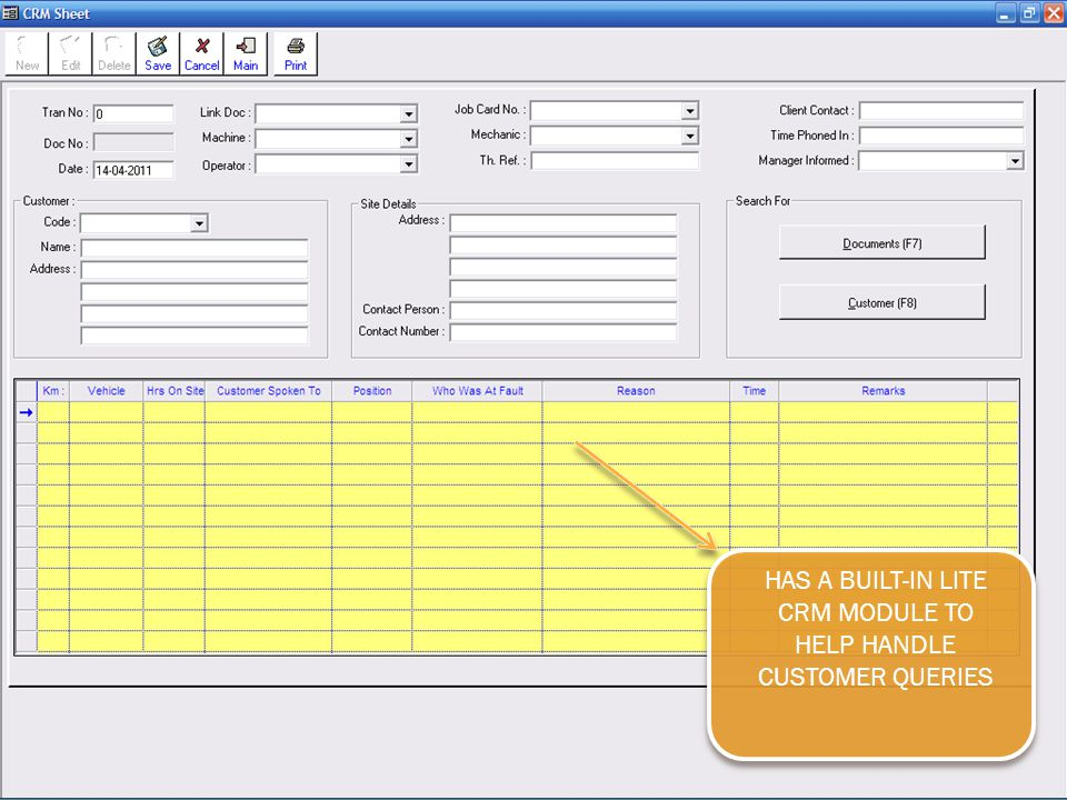 HAS A BUILT-IN LITE CRM MODULE TO HELP HANDLE CUSTOMER QUERIES