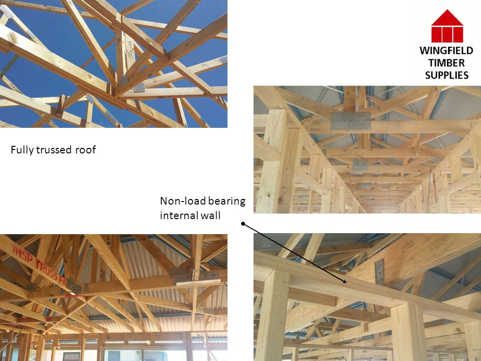 Fully trussed roof Non-load bearing internal wall 27