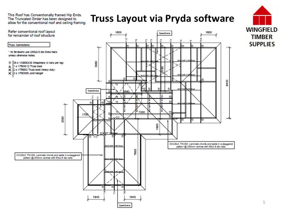 Truss Layout via Pryda software 5