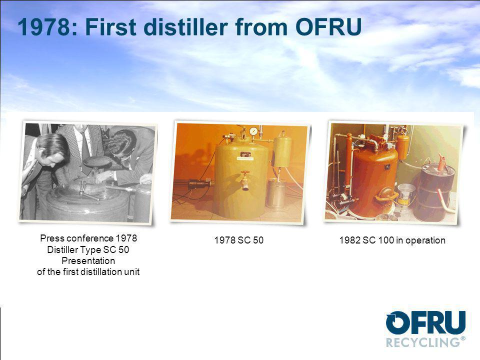 1978: First distiller from OFRU