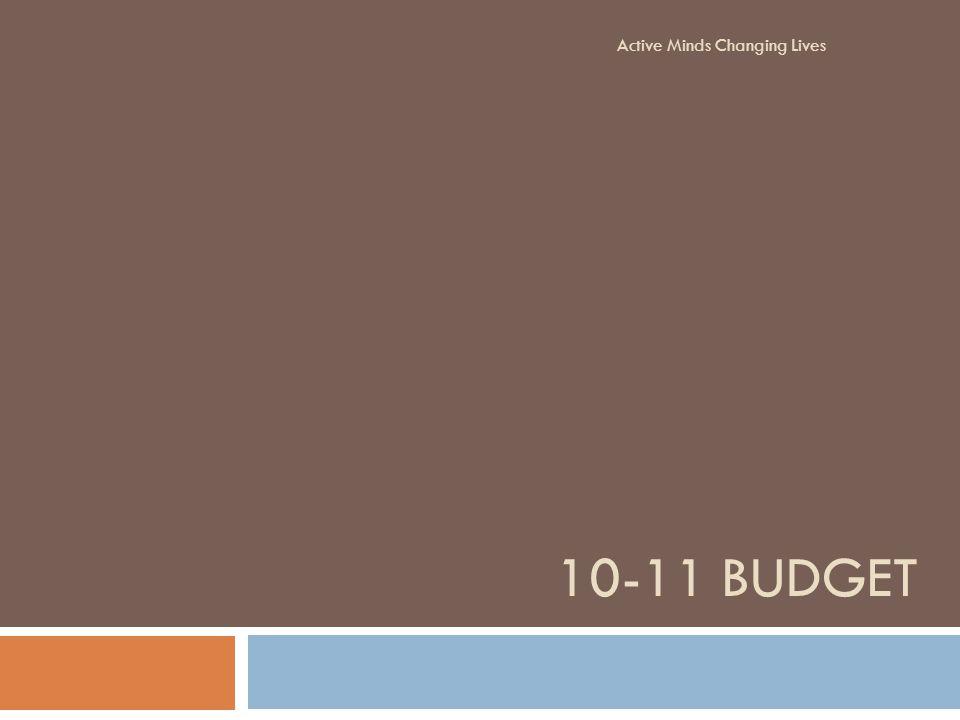 10-11 BUDGET Active Minds Changing Lives