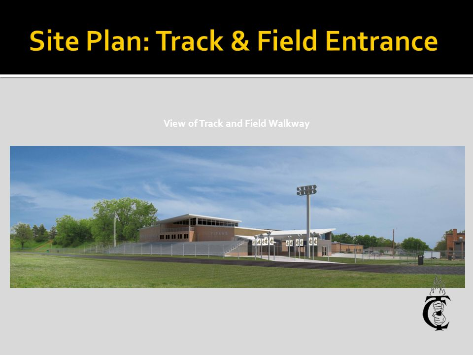 View of Track and Field Walkway