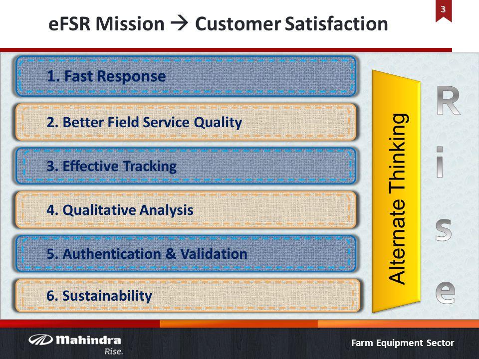 Farm Equipment Sector eFSR Mission Customer Satisfaction 3 Alternate Thinking