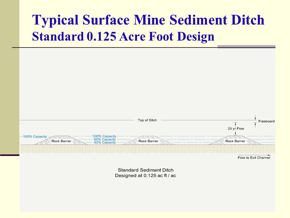 Typical Surface Mine Sediment Ditch Standard 0.125 Acre Foot Design
